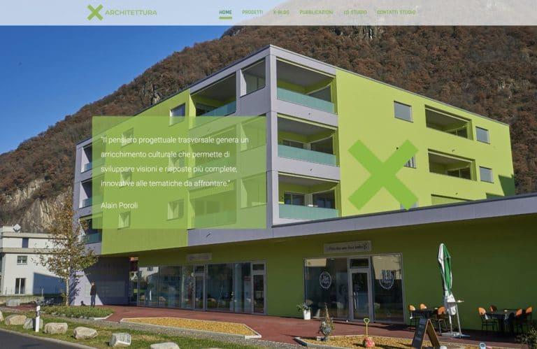Was macht ein Web Designer in Locarno, wenn nicht die neue X-ARCHITETTURA Website veröffentlichen!